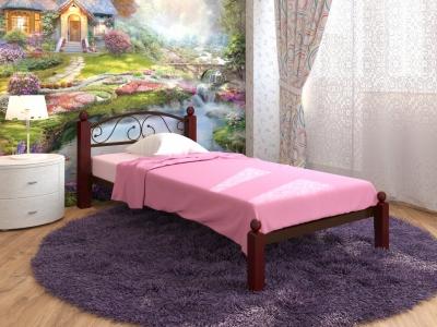 Кровать Вероника Мини Lux коричневая