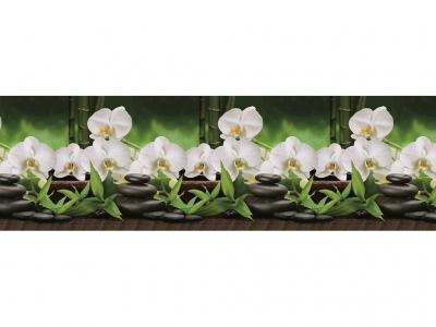 Фартук кухонный № 443 Орхидеи белые