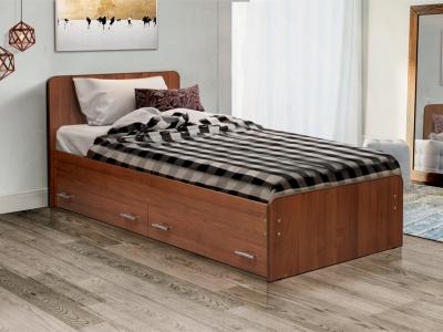 Кровать одинарная на уголках №5 с ящиками Матрица