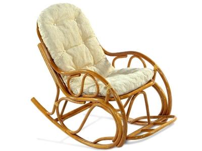 Кресло-качалка 05/04 с толстой подушкой мед