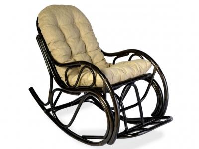 Кресло-качалка 05/04 с толстой подушкой венге