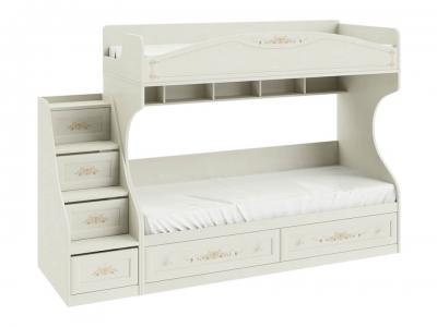 Кровать двухъярусная с лестницей Лючия СМ-235.11.01 Штрихлак