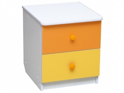 Тумба прикроватная Радуга Оранжевый-Желтый