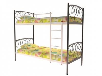 Кровать металлическая двухъярусная Злата черная